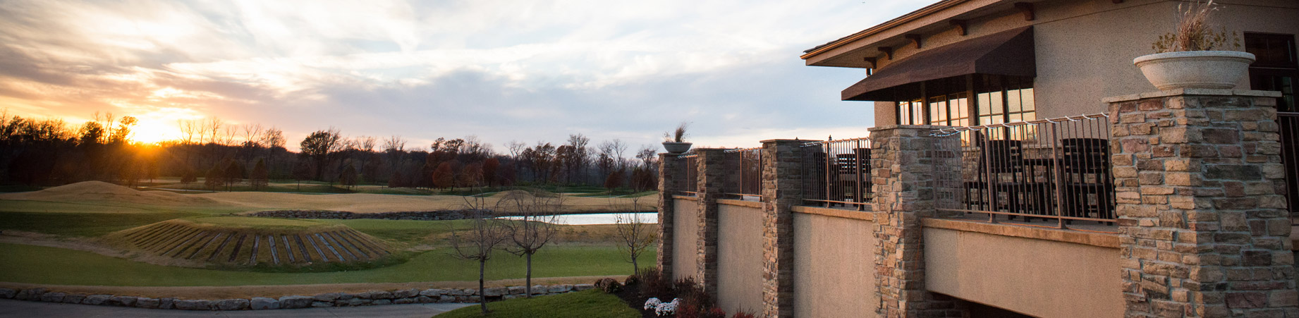 Sunset overlooking the golf course at Old Hickory Golf Club